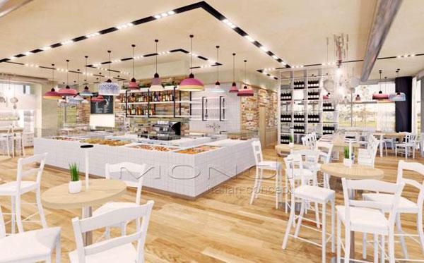 Arredamenti a roma per panifici pizzerie pasticcerie bar for Arredamento pasticceria prezzi